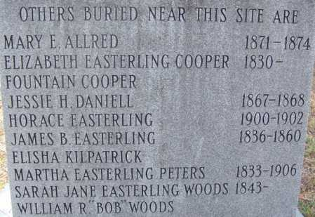 EASTERLING PETERS, MARTHA - Cleveland County, Arkansas | MARTHA EASTERLING PETERS - Arkansas Gravestone Photos