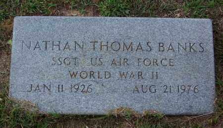 BANKS (VETERAN WWII), NATHAN THOMAS - Cleveland County, Arkansas | NATHAN THOMAS BANKS (VETERAN WWII) - Arkansas Gravestone Photos