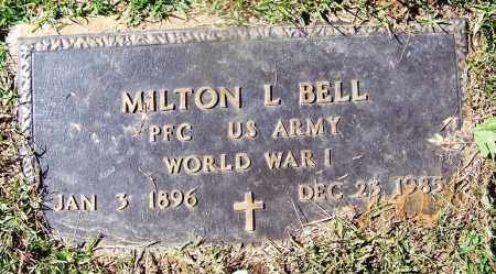 BELL (VETERAN WWI), MILTON L - Cleveland County, Arkansas | MILTON L BELL (VETERAN WWI) - Arkansas Gravestone Photos