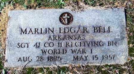 BELL (VETERAN WWI), MARLIN EDGAR - Cleveland County, Arkansas | MARLIN EDGAR BELL (VETERAN WWI) - Arkansas Gravestone Photos