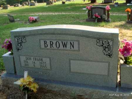 BROWN, DON FRANK - Cleveland County, Arkansas   DON FRANK BROWN - Arkansas Gravestone Photos