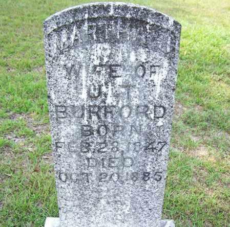 BURFORD, MARTHA - Cleveland County, Arkansas | MARTHA BURFORD - Arkansas Gravestone Photos