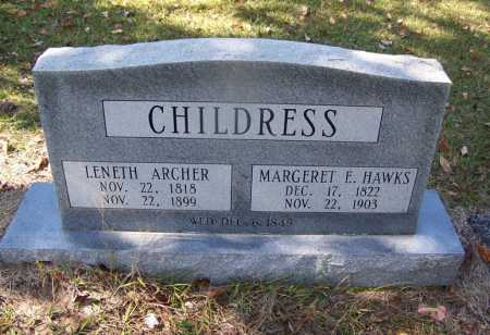 CHILDRESS, LENETH ARCHER - Cleveland County, Arkansas | LENETH ARCHER CHILDRESS - Arkansas Gravestone Photos