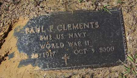 CLEMENTS (VETERAN WWII), PAUL F - Cleveland County, Arkansas | PAUL F CLEMENTS (VETERAN WWII) - Arkansas Gravestone Photos