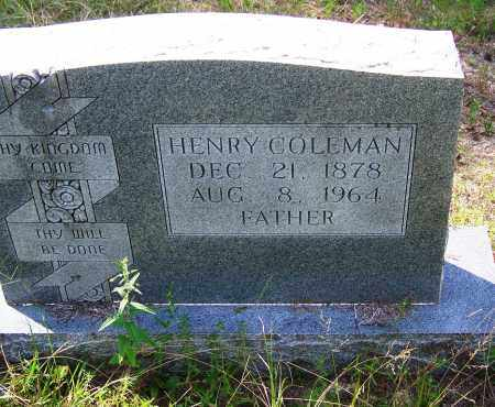 COLEMAN, HENRY - Cleveland County, Arkansas | HENRY COLEMAN - Arkansas Gravestone Photos