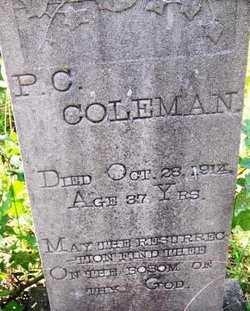 COLEMAN, P C - Cleveland County, Arkansas | P C COLEMAN - Arkansas Gravestone Photos