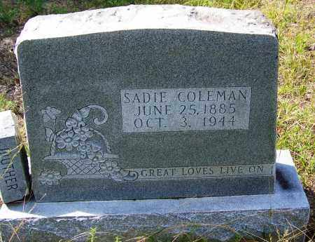 COLEMAN, SADIE - Cleveland County, Arkansas | SADIE COLEMAN - Arkansas Gravestone Photos