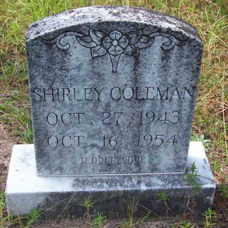 COLEMAN, SHIRLEY - Cleveland County, Arkansas | SHIRLEY COLEMAN - Arkansas Gravestone Photos