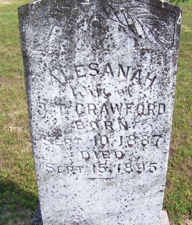 CRAWFORD, ALESENAH - Cleveland County, Arkansas | ALESENAH CRAWFORD - Arkansas Gravestone Photos