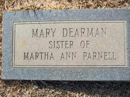 DEARMAN, MARY - Cleveland County, Arkansas | MARY DEARMAN - Arkansas Gravestone Photos