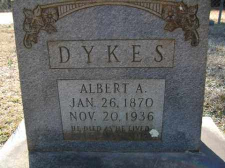 DYKES, ALBERT A. - Cleveland County, Arkansas | ALBERT A. DYKES - Arkansas Gravestone Photos
