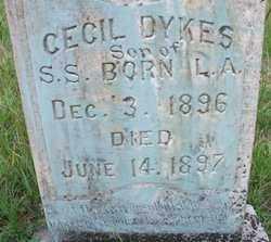 DYKES, CECIL - Cleveland County, Arkansas | CECIL DYKES - Arkansas Gravestone Photos
