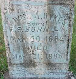 DYKES, WILLIAM A - Cleveland County, Arkansas | WILLIAM A DYKES - Arkansas Gravestone Photos