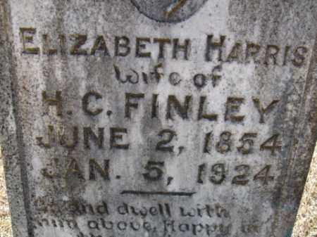 HARRIS FINLEY, ELIZABETH - Cleveland County, Arkansas | ELIZABETH HARRIS FINLEY - Arkansas Gravestone Photos