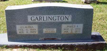 GARLINGTON, JAMES A - Cleveland County, Arkansas | JAMES A GARLINGTON - Arkansas Gravestone Photos