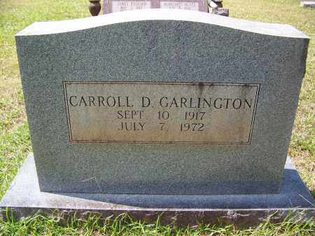 GARLINGTON, CARROLL D - Cleveland County, Arkansas | CARROLL D GARLINGTON - Arkansas Gravestone Photos