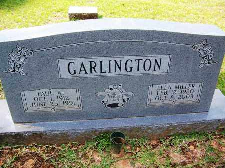 MILLER GARLINGTON, LELA - Cleveland County, Arkansas | LELA MILLER GARLINGTON - Arkansas Gravestone Photos