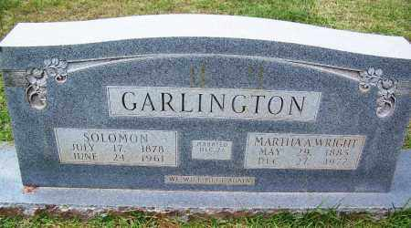 WRIGHT GARLINGTON, MARTHA A - Cleveland County, Arkansas | MARTHA A WRIGHT GARLINGTON - Arkansas Gravestone Photos