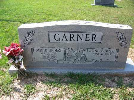 GARNER, OATHER THOMAS - Cleveland County, Arkansas   OATHER THOMAS GARNER - Arkansas Gravestone Photos
