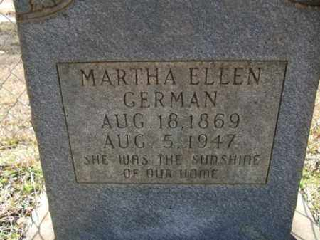 GERMAN, MARTHA ELLEN - Cleveland County, Arkansas | MARTHA ELLEN GERMAN - Arkansas Gravestone Photos