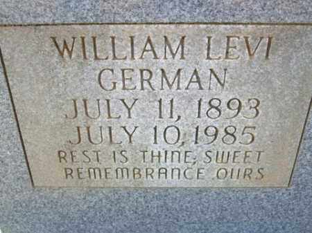GERMAN, WILLIAM LEVI - Cleveland County, Arkansas | WILLIAM LEVI GERMAN - Arkansas Gravestone Photos