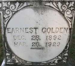 GOLDEN, EARNEST - Cleveland County, Arkansas | EARNEST GOLDEN - Arkansas Gravestone Photos