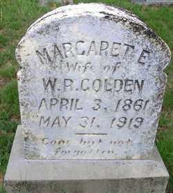 GOLDEN, MARGARET  E - Cleveland County, Arkansas   MARGARET  E GOLDEN - Arkansas Gravestone Photos