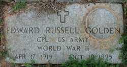 GOLDEN (VETERAN WWII), EDWARD RUSSELL - Cleveland County, Arkansas | EDWARD RUSSELL GOLDEN (VETERAN WWII) - Arkansas Gravestone Photos