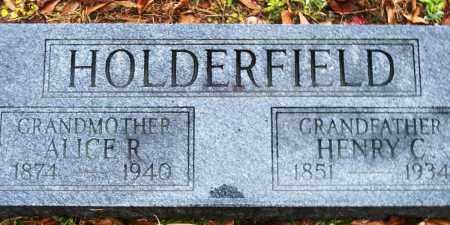 HOLDERFIELD, HENRY C - Cleveland County, Arkansas | HENRY C HOLDERFIELD - Arkansas Gravestone Photos