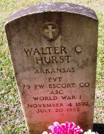 HURST (VETERAN WWI), WALTER C - Cleveland County, Arkansas | WALTER C HURST (VETERAN WWI) - Arkansas Gravestone Photos