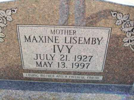 IVY, MAXINE - Cleveland County, Arkansas | MAXINE IVY - Arkansas Gravestone Photos