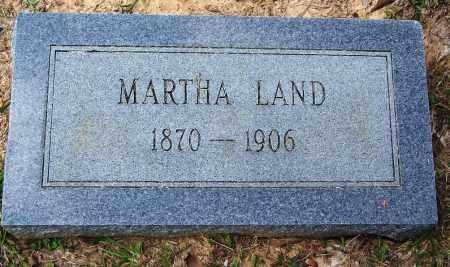LAND, MARTHA - Cleveland County, Arkansas | MARTHA LAND - Arkansas Gravestone Photos