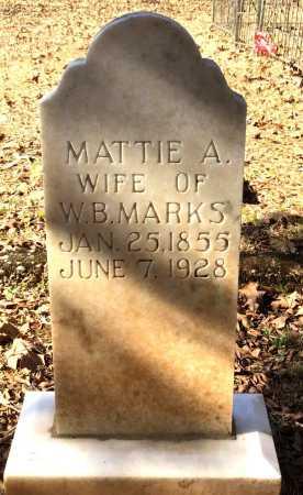 MARKS, MATTIE A - Cleveland County, Arkansas | MATTIE A MARKS - Arkansas Gravestone Photos