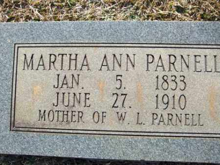 PARNELL, MARTHA ANN - Cleveland County, Arkansas | MARTHA ANN PARNELL - Arkansas Gravestone Photos