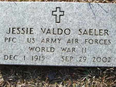 SAELER (VETERAN WWII), JESSIE VALDO - Cleveland County, Arkansas | JESSIE VALDO SAELER (VETERAN WWII) - Arkansas Gravestone Photos