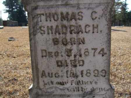 SHADRACH, THOMAS C. - Cleveland County, Arkansas | THOMAS C. SHADRACH - Arkansas Gravestone Photos