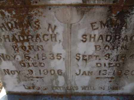 SHADRACH, THOMAS N. - Cleveland County, Arkansas | THOMAS N. SHADRACH - Arkansas Gravestone Photos