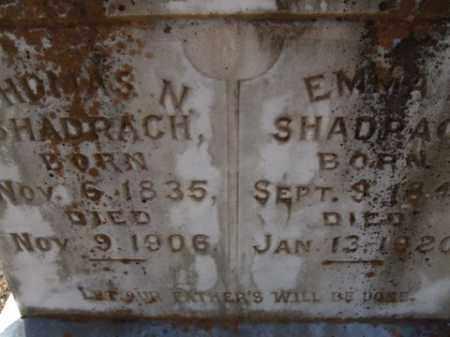 SHADRACH, EMMA - Cleveland County, Arkansas | EMMA SHADRACH - Arkansas Gravestone Photos
