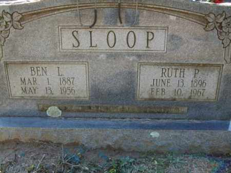 SLOOP, BEN L. - Cleveland County, Arkansas | BEN L. SLOOP - Arkansas Gravestone Photos