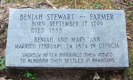 STEWART, BENIAH - Cleveland County, Arkansas | BENIAH STEWART - Arkansas Gravestone Photos