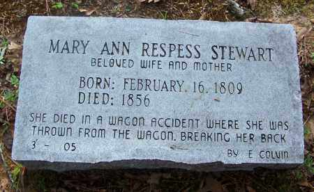RESPESS STEWART, MARY ANN - Cleveland County, Arkansas | MARY ANN RESPESS STEWART - Arkansas Gravestone Photos