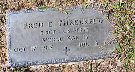 THRELKELD (VETERAN WWII), FRED E - Cleveland County, Arkansas | FRED E THRELKELD (VETERAN WWII) - Arkansas Gravestone Photos