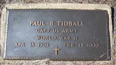TIDBALL (VETERAN WWII), PAUL B - Cleveland County, Arkansas | PAUL B TIDBALL (VETERAN WWII) - Arkansas Gravestone Photos