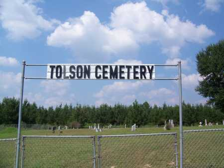 *TOLSON, CEMETERY GATE - Cleveland County, Arkansas | CEMETERY GATE *TOLSON - Arkansas Gravestone Photos