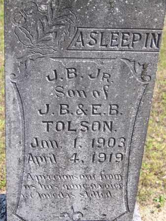 TOLSON, JR, J B - Cleveland County, Arkansas   J B TOLSON, JR - Arkansas Gravestone Photos
