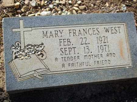 WEST, MARY FRANCES - Cleveland County, Arkansas | MARY FRANCES WEST - Arkansas Gravestone Photos