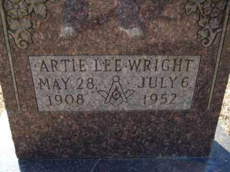 WRIGHT, ARTIE LEE - Cleveland County, Arkansas | ARTIE LEE WRIGHT - Arkansas Gravestone Photos