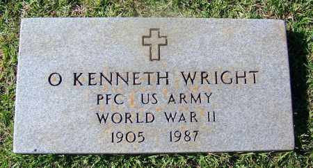 WRIGHT (VETERAN WWII), O KENNETH - Cleveland County, Arkansas | O KENNETH WRIGHT (VETERAN WWII) - Arkansas Gravestone Photos