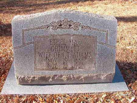 GRIMMETT ADAMS, ETHEL MAE - Columbia County, Arkansas | ETHEL MAE GRIMMETT ADAMS - Arkansas Gravestone Photos