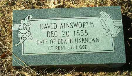 AINSWORTH, DAVID - Columbia County, Arkansas | DAVID AINSWORTH - Arkansas Gravestone Photos